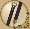 LARP Leather belt in celtic design